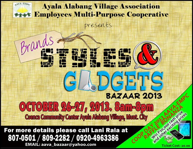 Zac's Toys and Gifts at Cuenca Community Center Alabang Oct. 26-27, 2013