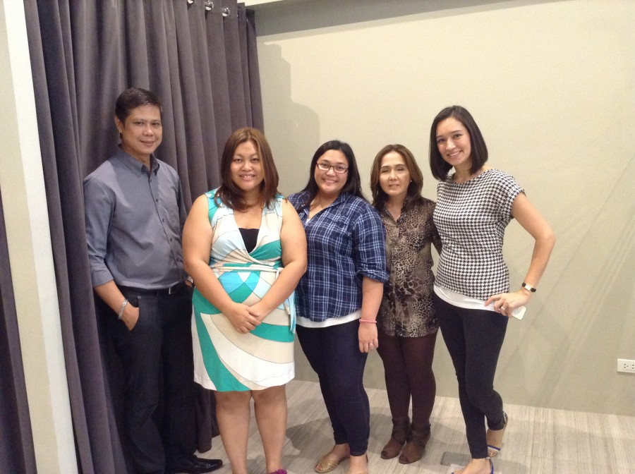 With Ms. Evelyn Tagle and her salon manager, Mrs. C and Mish Aventajado